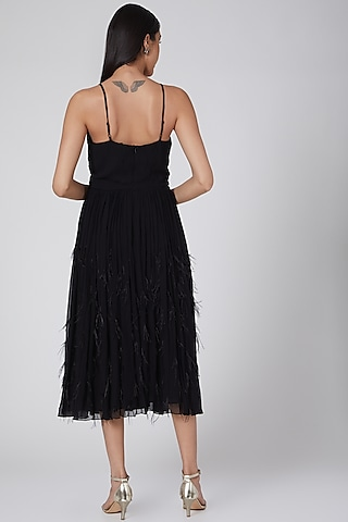 Black Strappy Dress by Swatee Singh