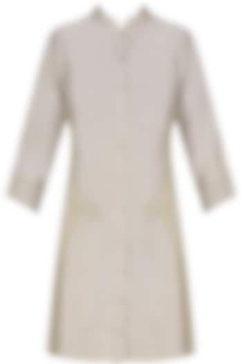 Ash grey handcut motif back winged tall shirt by SWGT By Shweta Gupta