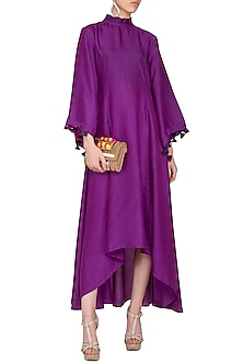 Purple Flared Kaftan Midi Dress by Swati Jain