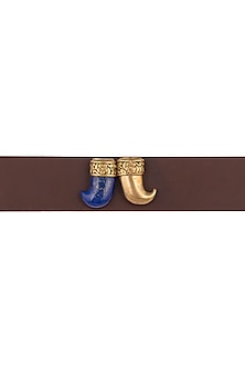 Gold Plated Tiger Claw Rakhi by Symetree