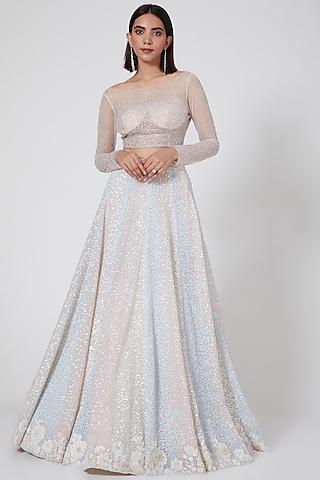 Multi Colored Zig Zag Skirt by SHRIYA SOM