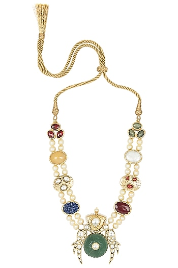 Gold Plated Antique Finish Necklace by Symetree
