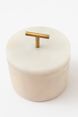 White Aroma Candle Jar by Table Manners