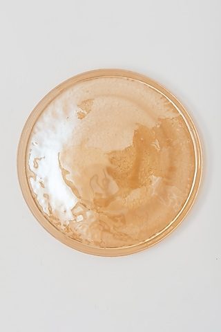 Yellow Glass Dinner Plate by Table Manners
