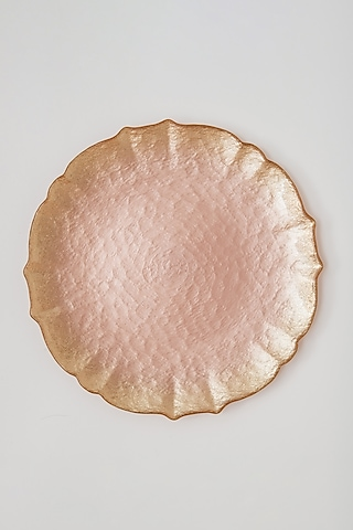 Pink Glass Dinner Plate by Table Manners