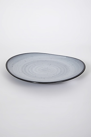 Black Porcelain Plate by Table Manners