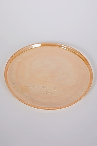 Amber Glass Plate by Table Manners