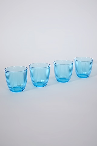 Blue Ocean Glasses (Set of 4) by Table Manners