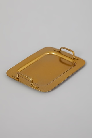 Gold Finish Mini Trays (Set of 6) by Table Manners