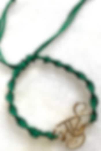 Green Bhai Thread Rakhi by Tanvi Garg