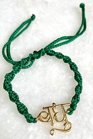 Green Bandhu Thread Rakhi by Tanvi Garg