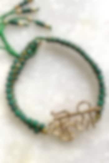 Green Saheli Thread Rakhi by Tanvi Garg