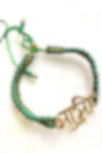 Green Bhabhi Thread Rakhi by Tanvi Garg