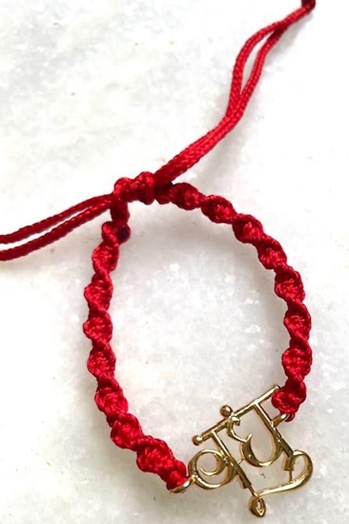 Red Bandhu Thread Rakhi by Tanvi Garg
