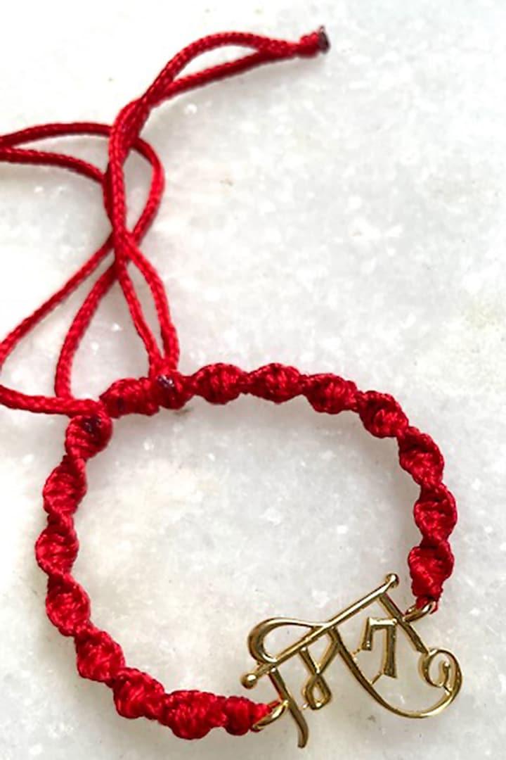 Red Mitra Thread Rakhi by Tanvi Garg