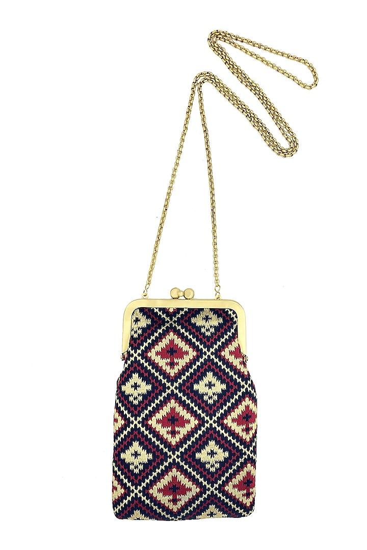 Dark Blue Mini Clutch Sling Bag by That Gypsy