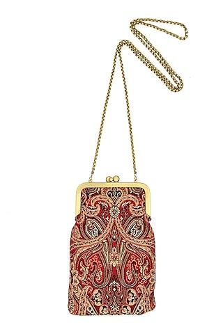 Dark Pink Mini Clutch Sling Bag by That Gypsy
