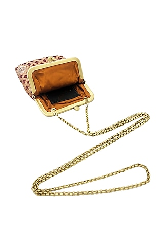 Orange Mini Clutch Sling Bag by That Gypsy