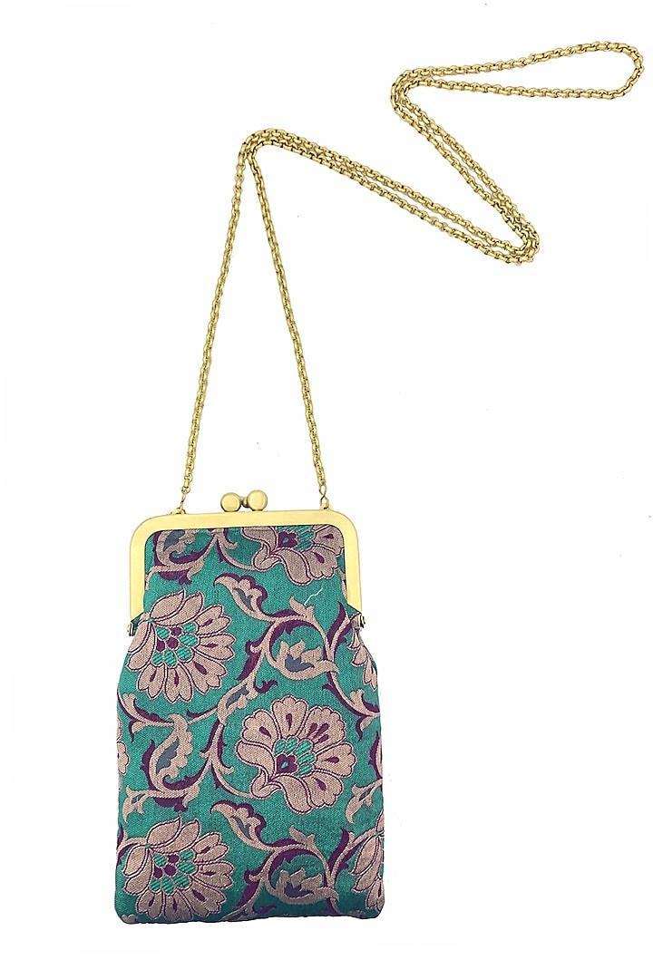 Light Blue Mini Clutch Sling Bag by That Gypsy