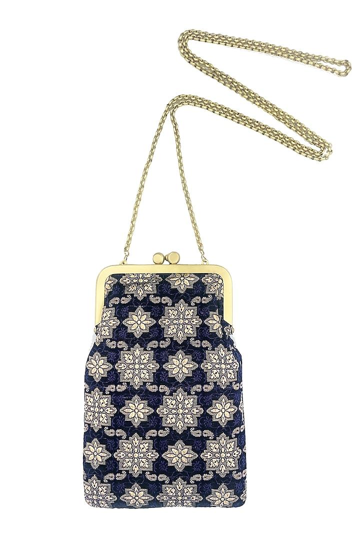 Navy Blue Mini Clutch Sling Bag by That Gypsy