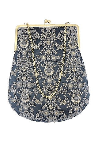 Blue Embroidered Purse by That Gypsy
