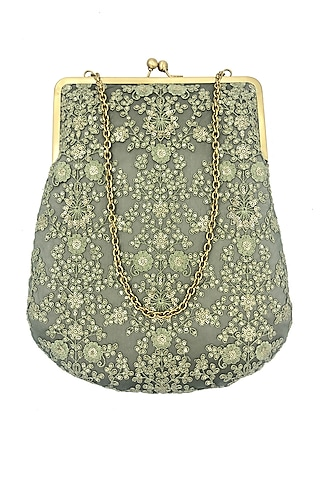 Green Sequins Embroidered Purse by That Gypsy