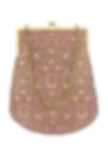Pink Gold Sequins Embroidered Purse by That Gypsy