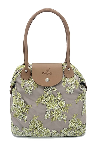 Grey Embroidered Bag by That Gypsy