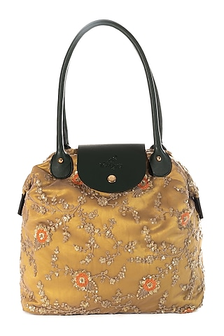Yellow Embroidered Bag by That Gypsy