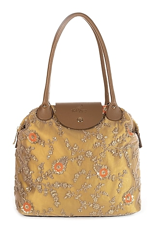 Golden Embroidered Bag by That Gypsy