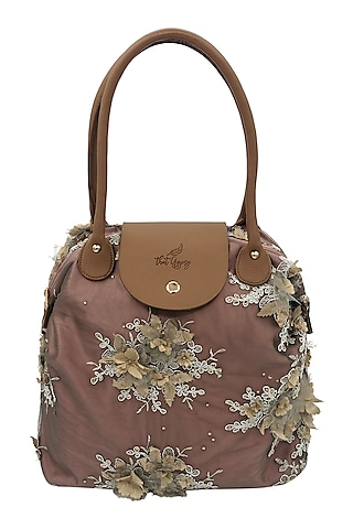 Blush Pink Bag With Sparkles by THAT GYPSY