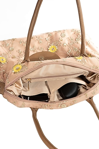 Gold Lace & Net Embroidered Bag by THAT GYPSY