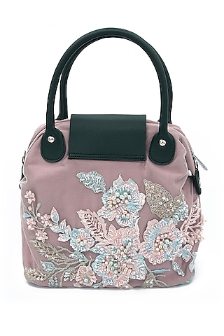 Blush Pink Embroidered Bag by THAT GYPSY