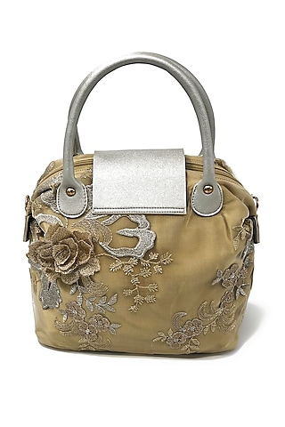 Gold Embroidered Lace Bag by THAT GYPSY
