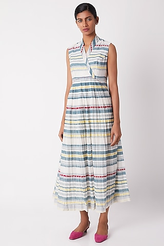 Multi Colored Striped Dress by Tahweave