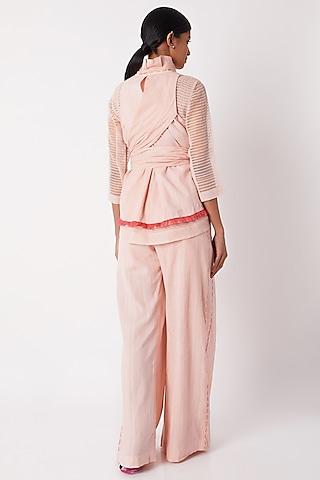Blush Pink Layered Wrap Top by Tahweave