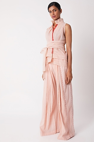 Blush Pink Pleated Pants by Tahweave