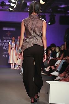 Black Pintuck Pants by Tahweave
