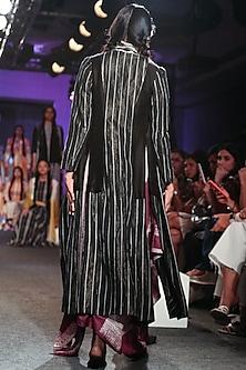 Purple Shibori Drape Dress by Tahweave
