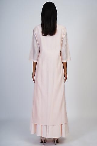Blush Pink Asymmetrical Layered Tunic by Taika By Poonam Bhagat