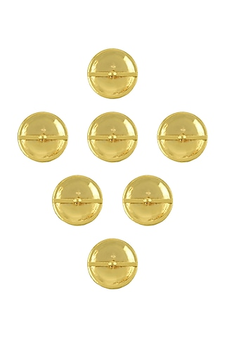 Gold Finish Enameled Buttons by Tribe Amrapali