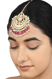 Gold Plated Pearls Maangtikka by Tribe Amrapali