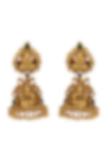 Gold Plated Dangler Earrings by Tribe Amrapali
