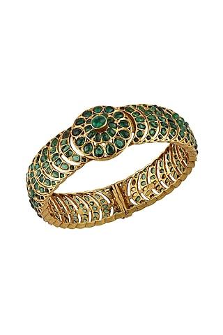 Gold Plated Glass Bangle by Tribe Amrapali