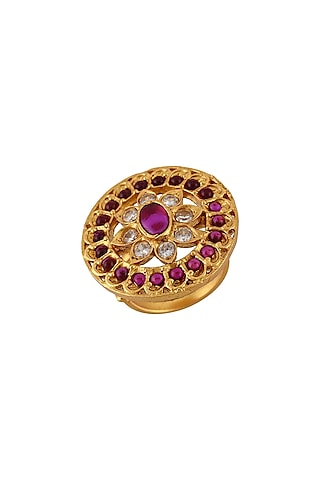 Gold Plated Ring by Tribe Amrapali