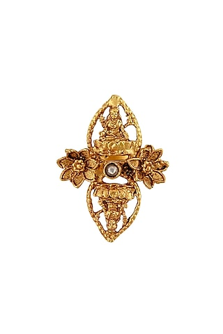 Gold Plated Glass Ring by Tribe Amrapali