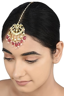 Gold Plated Glass Maang Tikka by Tribe Amrapali