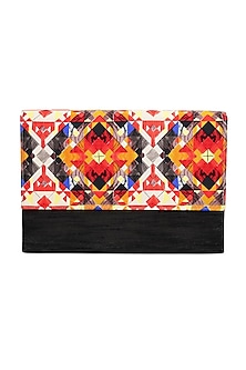 Black Digital Printed Clutch by Tarini Nirula