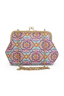 Multi Colored Printed Sling Bag by Tarini Nirula