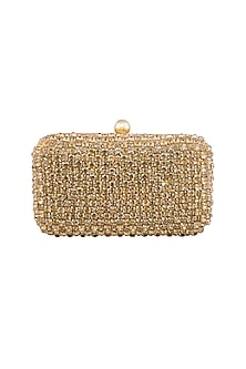 Golden Stones Embellished Clutch by Tarini Nirula